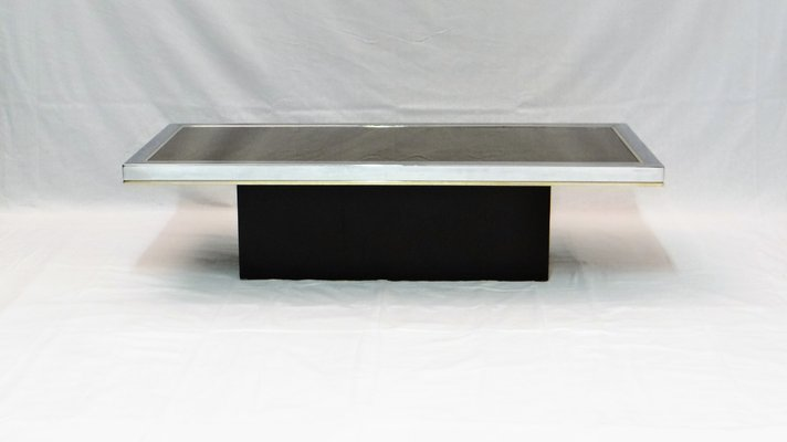 Vintage Mirrored Coffee Table By Roger Vanhevel 1970s