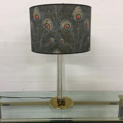 Large Brass Lucite Table Lamp 1980s For Sale At Pamono