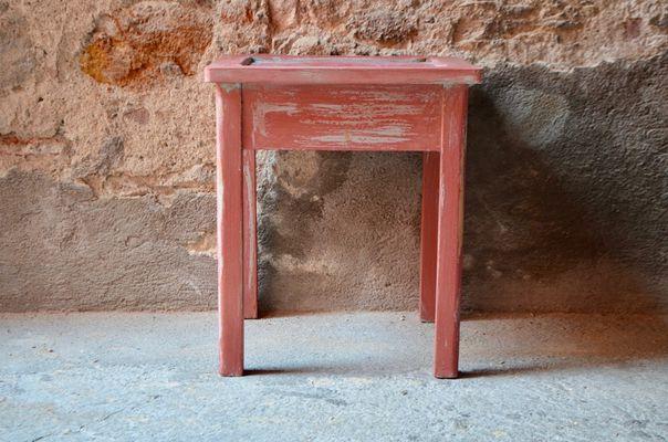 Sgabello da fattoria vintage rustico in vendita su pamono