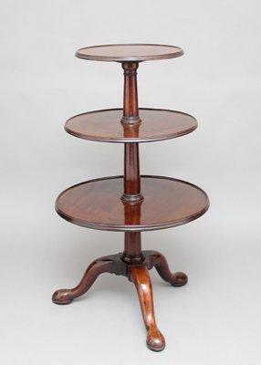 Antique Mahogany Three Tier Table, 1770s 1