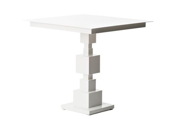 Square Letu0027s Talk Table In White By Sara Mondaini For Officine Tamborrino