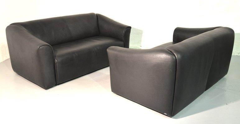 Magnificent Vintage Leather Ds 47 Sofas From De Sede Set Of 2 Creativecarmelina Interior Chair Design Creativecarmelinacom