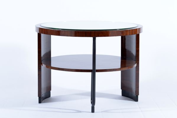 Art Deco Italian Mirror Topped Side Table, 1930s 14