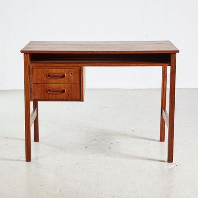 Mid Century Schreibtisch Mit 2 Schubladen 1960er Bei Pamono Kaufen