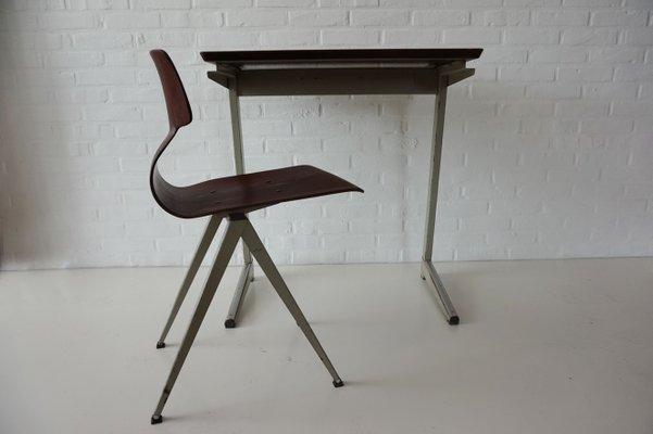 En De Galvanitas1960s Industriels Contreplaqué Chaise Bureau Et 6vYgbyf7