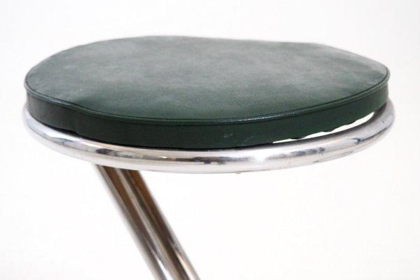 Sgabelli da pianoforte vintage in acciaio cromato set di in