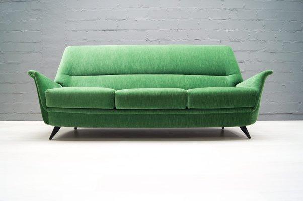 Italian Green Sofa, 1950s