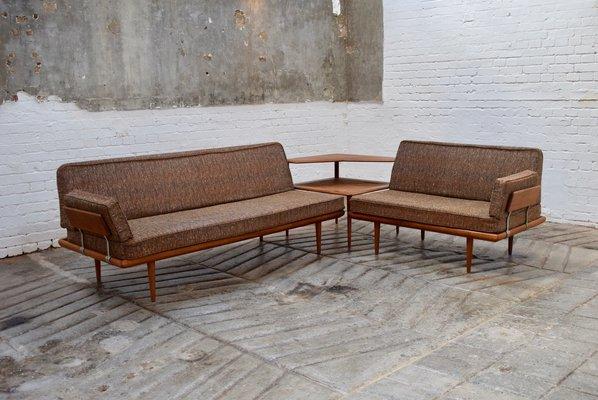 Vintage Danish Minerva Sofa Set By Peter Hvidt And Orla Molgaard For