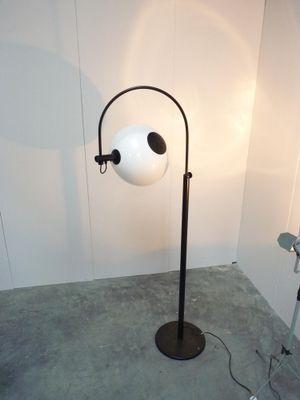 Lampada Da Terra Ad Arco Nera Anni 70