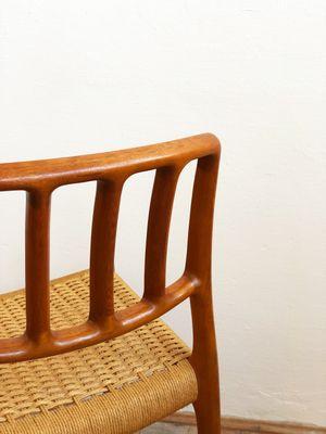 Danish Mid Century Model 82 Teak Chairs By Niels Otto Møller For J.L.  Møllers,