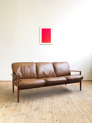 Mid Century Modern Danish Teak Leather