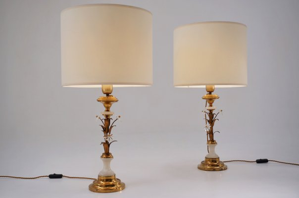 Floine Tole Gilt Table Lamps From Banci Firenze 1950s Set Of 2