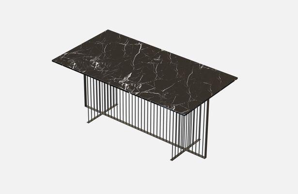 Table salle a manger marbre noir - Table salle a manger plateau marbre ...