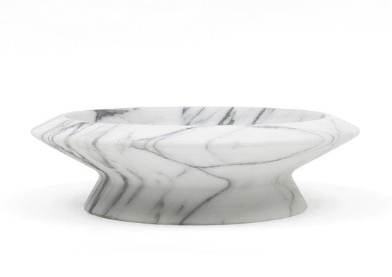 Milieu de Table Amaltea en Marbre Arabescato Blanc par Ivan Colominas pour MMairo
