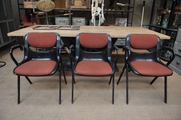 Sedie In Metallo E Plastica : Sedie da ufficio dorsal in plastica e metallo di emilio ambasz e