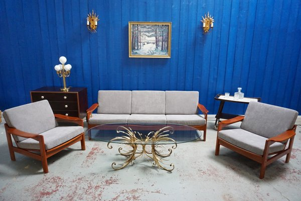 Mid Century Modern Danish Living Room Set, 1960s 14