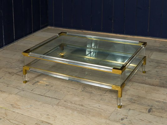 Vintage Acrylic Coffee Table, 1970s