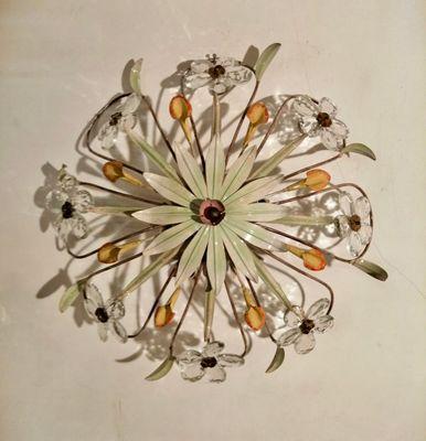 Vintage Einbaulampe In Blumen Optik Bei Pamono Kaufen