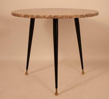 Runder Vintage Tisch Aus Marmor Bei Pamono Kaufen