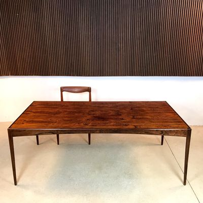 Bureau Ou Table De Salle A Manger En Palissandre Par Kristian Vedel