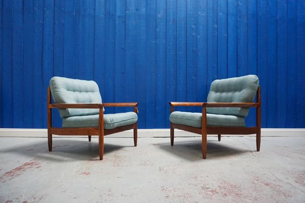 Mid Century Modern Danish Teak Armchair S 1960s Set Of 2 For Sale