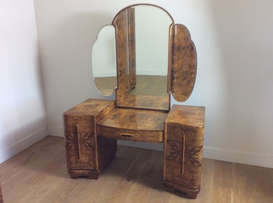 Strange Art Deco Dressing Table With Cloud Shaped Mirror 1920S Gamerscity Chair Design For Home Gamerscityorg