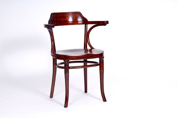 Antique Banker Chair from Thonet, 1915 1 - Antique Banker Chair From Thonet, 1915 For Sale At Pamono