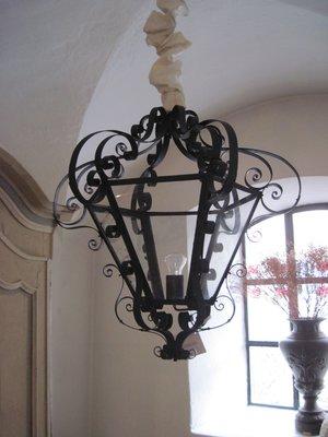 French Lantern Lamp In Iron Gl