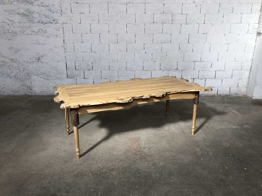 Vintage Acacia Dining Table By JL Claude