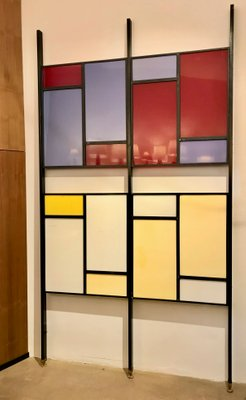 Mid Century Room Divider >> Mid Century Modern Colourful Italian Room Divider For Sale At Pamono