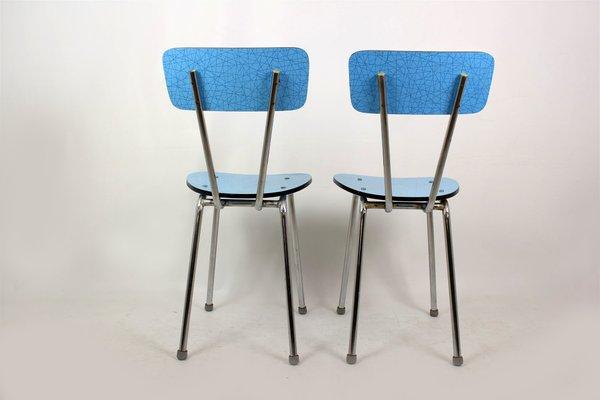 Sedie Blu Cucina : Sedie da cucina in formica blu anni set di in vendita su