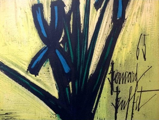 Fine Flowers Lithograph By Bernard Buffet For Les Heures Claires 1960S Download Free Architecture Designs Boapuretrmadebymaigaardcom
