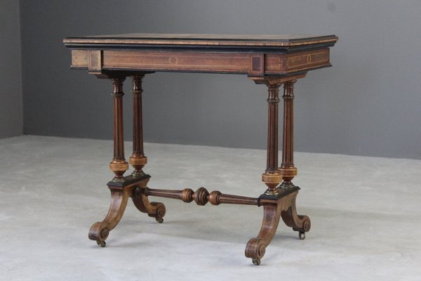 Antique Victorian Card Table For Sale At Pamono