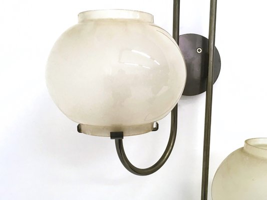 Applique in vetro di arteluce italia anni set di in