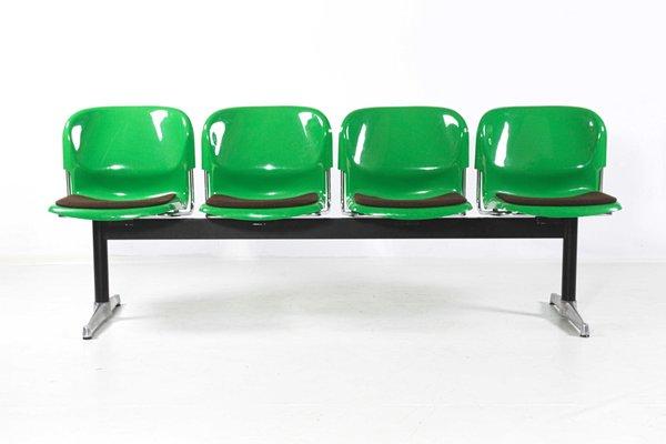 Panchina In Plastica Verde.Panchina Vintage In Acciaio Alluminio E Plastica Di Gerd Lange Per