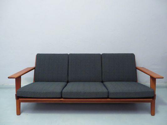 Model Ge 290 Three Seater Teak Sofa By Hans J Wegner For Getama