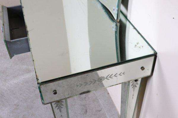 Konsolentisch Spiegelglas.Konsolentisch Mit Spiegel 1940er
