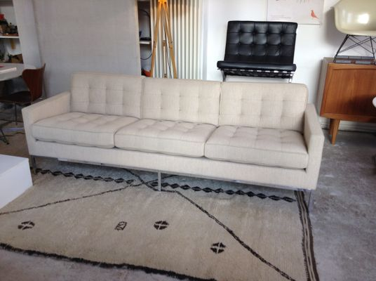 Vintage 3 Seater Sofa By Florence Knoll For Inc 1