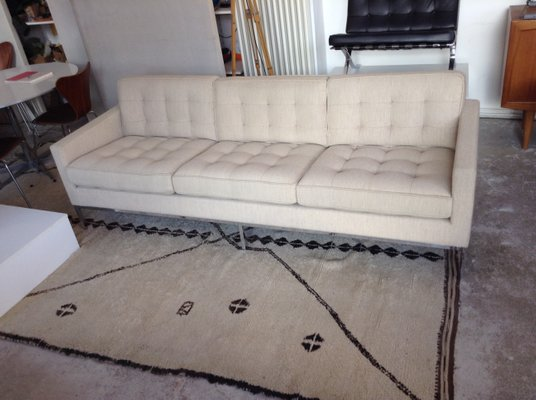 Vintage 3 Seater Sofa By Florence Knoll For Inc 2