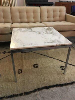 Table Basse Vintage Avec Plateau En Marbre Par Florence Knoll En