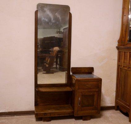 huge discount 9ae72 ef4bd Italian Walnut Dressing Table with Mirror, 1940s
