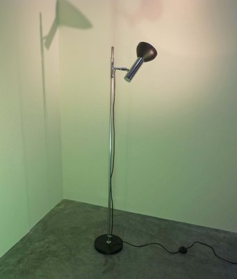 Mid Century Black Floor Lamp With 1 Spotlight From Cosack