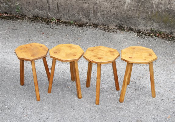 Fabulous Vintage Wooden Tripod Stools Set Of 4 Squirreltailoven Fun Painted Chair Ideas Images Squirreltailovenorg