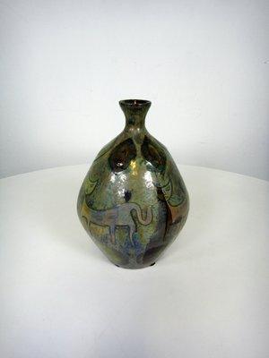 Riccardo Gatti Ceramica.Vaso A Lustro Di Riccardo Gatti Per Gatti Italia Anni 50