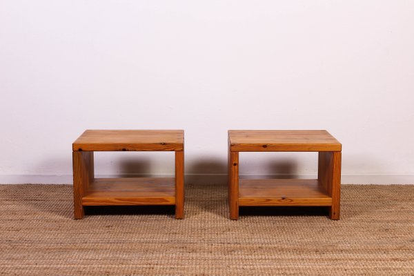 Mid Century Pine Side Table By Sven Larsson For Mobel Shop