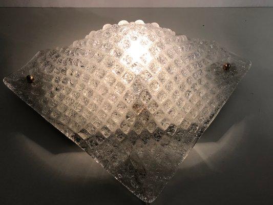 Applique mid century in vetro di murano set di in vendita su pamono