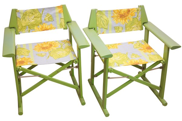 Italian Director Chairs From Fratelli Reguitti 1970s Set Of 2