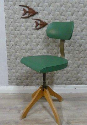 Grüner Vintage Polstergleich Drehstuhl Von Margarete Klöber 1