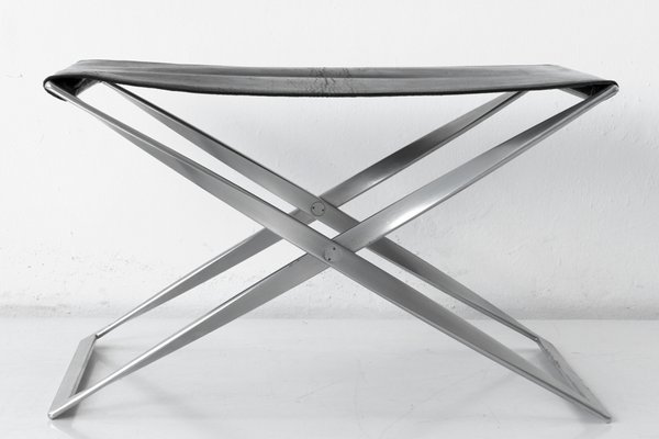 Stupendous Model Pk 91 Folding Stool By Poul Kjaerholm For E Kold Christensen 1968 Unemploymentrelief Wooden Chair Designs For Living Room Unemploymentrelieforg