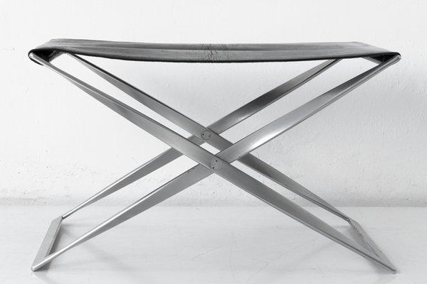 Sgabello pieghevole modello pk 91 di poul kjærholm per e. kold